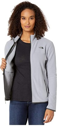 The North Face TKA Glacier Full Zip Jacket (Mid Grey/Mid Grey) Women's Coat