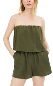 Fishbowl Juniors' Strapless Popover Romper