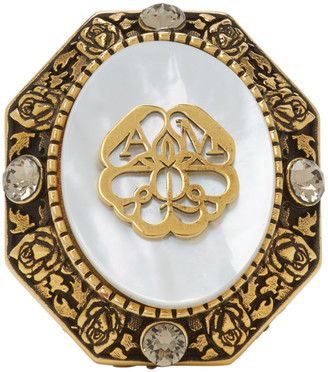 Alexander McQueen Gold Charm Seal Ring