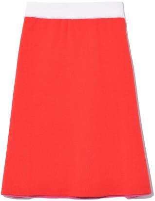 Marni Knit A-Line Skirt in Red