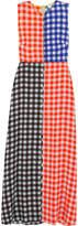 Diane von Furstenberg Gingham Stretch-silk Maxi Dress