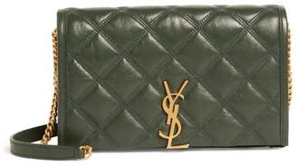 Saint Laurent Leather Becky Chain Wallet