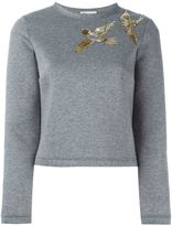 RED Valentino sequin bird detail sweatshirt - women - Cotton/Polyurethane - L