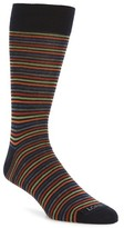 Lorenzo Uomo Men's Stripe Crew Socks