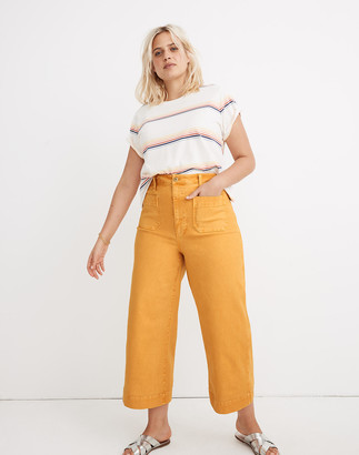 Madewell Petite Emmett Wide-Leg Crop Pants: Patch Pocket Edition