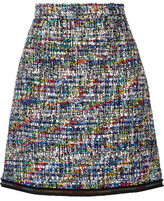 Moschino Grosgrain-Trimmed Bouclé-Tweed Mini Skirt