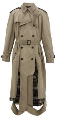 Maison Margiela Cut-out Panel Cotton-blend Trench Coat - Mens - Grey
