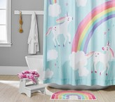 Rainbow Unicorn Bath Set Towels Shower Curtain Mat