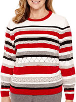 Alfred Dunner Madrid Long-Sleeve Striped Chenille Sweater