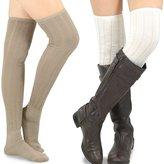 Teeheesocks TeeHee Women's Fashion Pointelle Over the Knee High Socks - 4 Pairs Combo