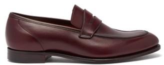Crockett Jones Crockett & Jones - Lucy Patinated Leather Penny Loafers - Womens - Burgundy