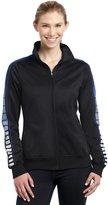 Sport-Tek Women's Dot Sublimation Tricot Track Jacket S