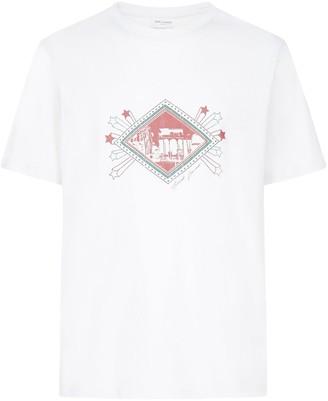Saint Laurent Col Rend Des Short Sleeve T-shirt