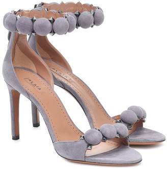 Alaia Bombe suede sandals