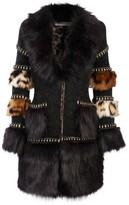 The Extreme Collection Faux fur Knit Coat Mr. Moustache
