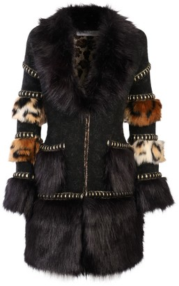 The Extreme Collection Faux Fur Knit Coat Mr. Moustache