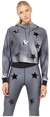 ULTRACOR Hypercolor Lynx Pullover Hoodie (Grey Print/Patent Nero) Women's Clothing