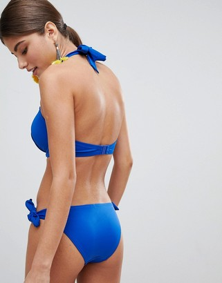 Pour Moi? Pour Moi Padded Underwired Bikini Top in cobalt blue