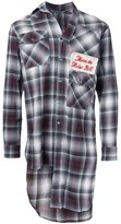 Miharayasuhiro long plaid shirt - men - Cotton/Rayon - 44