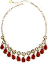 Liz Claiborne Red Stone Teardrop Necklace