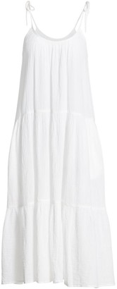 HONORINE Daisy Tiered Midi Dress