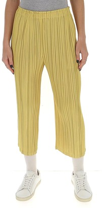 Pleats Please Issey Miyake Cropped Pants