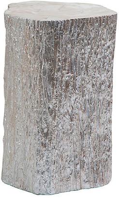 Artistica Trunk Segment Tall Side Table - Silver Leaf
