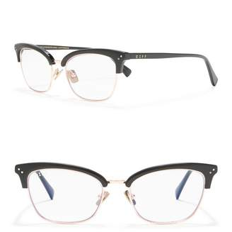Cat Eye DIFF Eyewear Lucy 51mm Blue Light Blocking Glasses