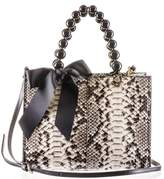 Black Ivory, Grey and Taupe Python Shoulder Bag