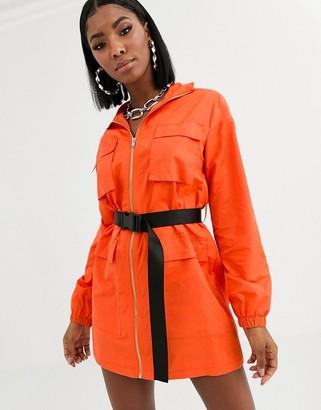 Public Desire utility shirt dress with contrast belt