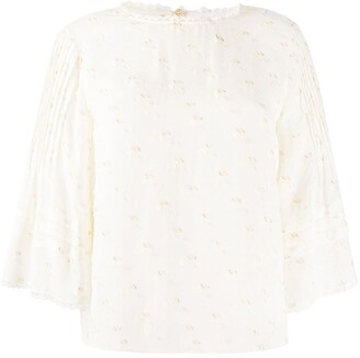 See by Chloe Embroidered Wide Sleeve Blouse