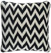 Eichholtz Chevron Cushion Black Cream Polyester 60x60cm