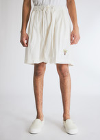 story. Mfg. mfg. Men's Bridge Short in White, Size Small