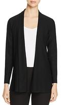 Eileen Fisher Petites Shawl Collar Open Front Cardigan
