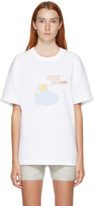 Jacquemus White and Pink Le T-Shirt Jacques T-Shirt