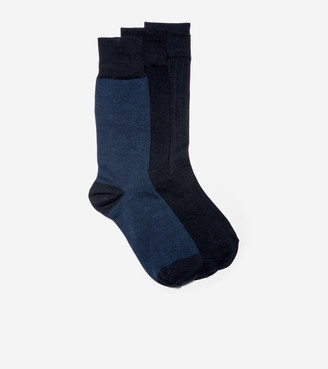 Cole Haan 3-Pair Nailhead Rib Solid Knit Socks