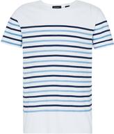 Oxford Seth Prntd Strpe Tshirt Wht/Blu X
