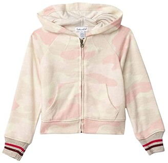 Splendid Littles Camo Hacci Hoodie Jacket (Toddler/Little Kids) (Oatmeal Heather) Girl's Clothing