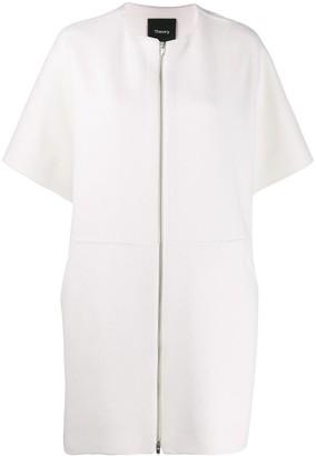 Theory Zipped Short-Sleeved Coat