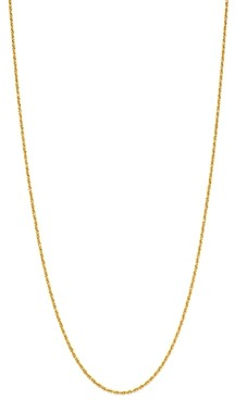 Bloomingdale's Solid Glitter Link Chain Necklace in 14K Yellow Gold - 100% Exclusive