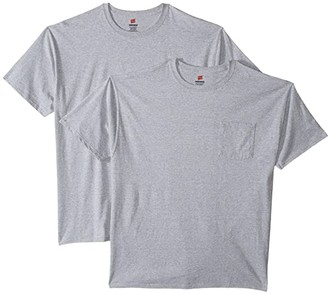 Hanes X-Temp(r) FreshIQ(r) Workwear Pocket Tee Value 2-Pack (Black) Men's Clothing