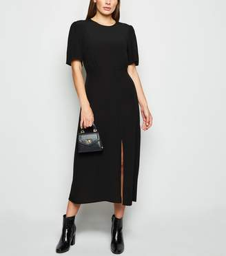 New Look Short Sleeve Side Split Midi Dress