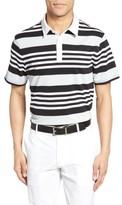 AG Jeans Men's The Benson Stripe Pique Polo