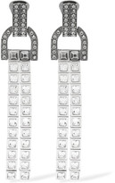 Lanvin Silver-tone Swarovski Crystal Clip Earrings - one size