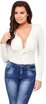 Jessica Wright V Neck Bodysuit