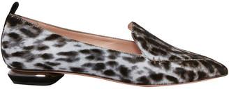 Nicholas Kirkwood Beya Leopard-print Calf Hair Loafers