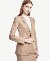 Ann Taylor Cotton Blend One Button Jacket