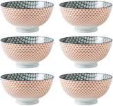 "Torre & Tagus Kiri Porcelain 6"" Medium Bowl (Set of 6)"