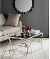 Safavieh Alphonse Silver Tempered Glass Top Coffee Table