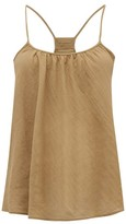 Loup Charmant Scoop-neck Organic-cotton Cami Top - Womens - Brown